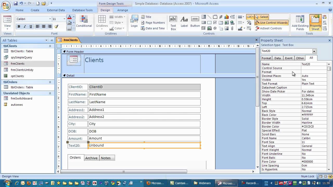 Favori Creating a calculated Field in Microsoft Access - YouTube PV58