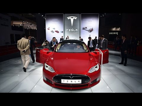 Tesla Stock Soars, Pushing Market Value Past Ford