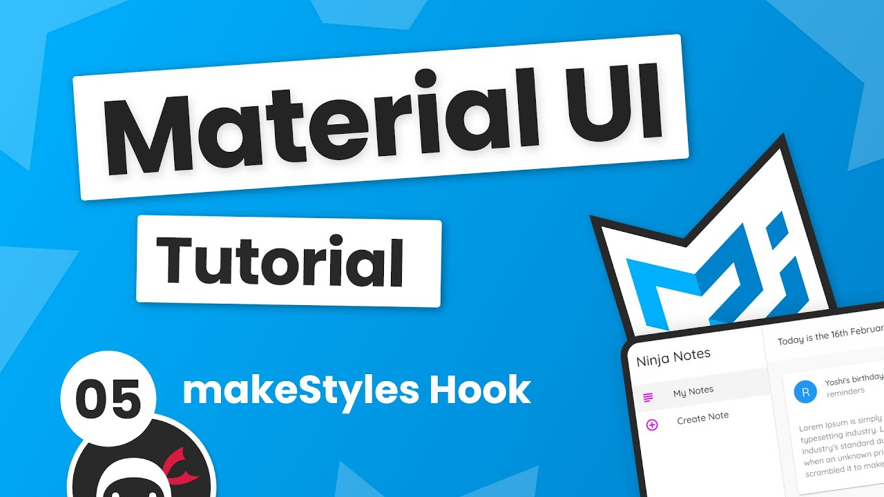 Material UI Tutorial #5 - makeStyles Hook (Custom CSS)