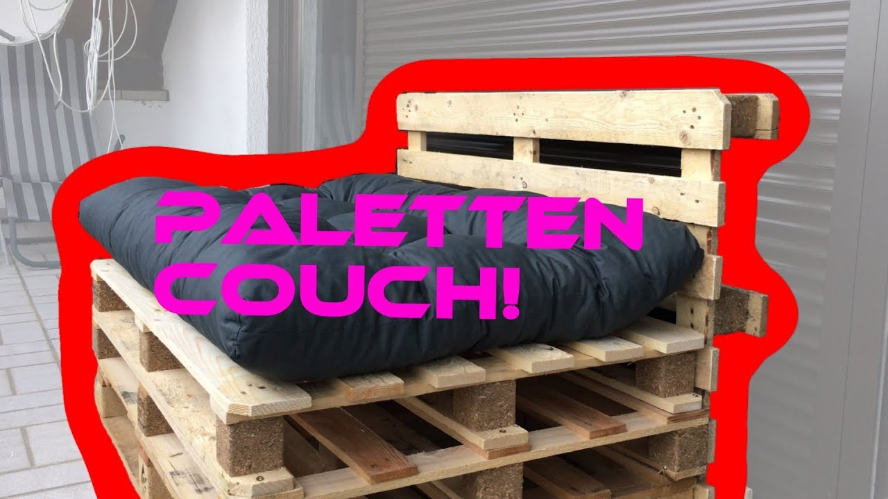 krasse couch aus paletten selbst bauen paletten sofa f r drinnen und drau en diy youtube. Black Bedroom Furniture Sets. Home Design Ideas
