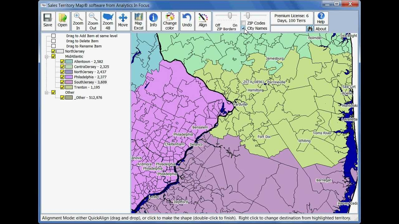 Sales Territory Map - Sales Territory Map software