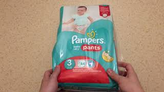 Pampers baby-dry pants 3 UNBOXING