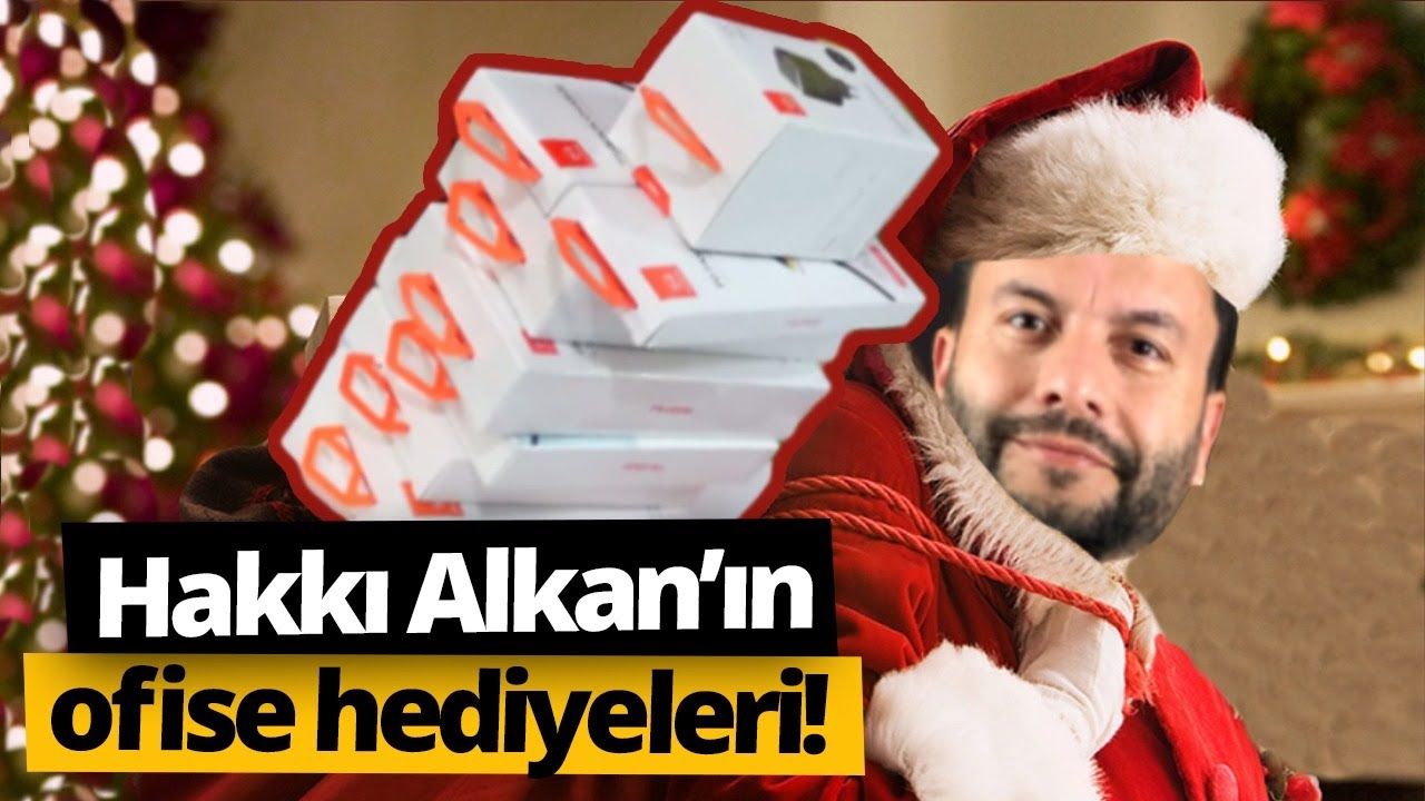 Hakkı Alkan'dan tüm ofise hediye!