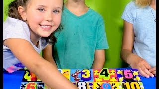 Learn English Numbers! Play puzzles with Sign Post Kids!
