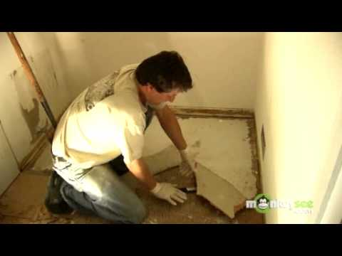 How To Remove Vinyl Floors YouTube - Vinyl flooring youtube