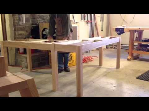 l shaped desk design youtube - Homemade Wooden Desk Designs