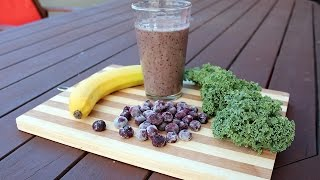 Vegan Blueberry Banana Kale Breakfast Smoothie : The Nutritarian Cooking Show