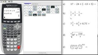 TI 84 Plus - Einḟache Rechenaufgaben