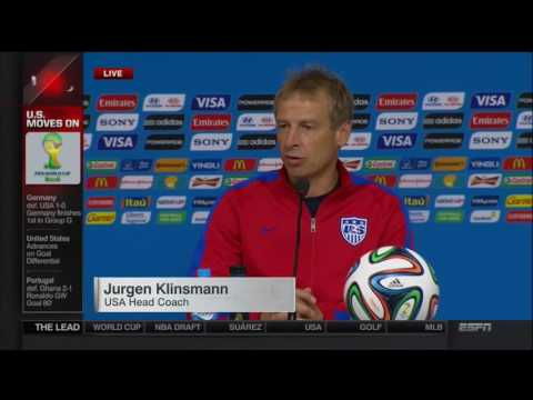 Jürgen Klinsmann Post Match Interview | LIVE 6 26 14