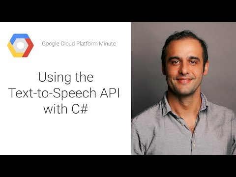 Using the Text-to-Speech API with C#