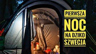 Pierwsza noc NA DZIKO i alpaki vlog 2 Szwecja