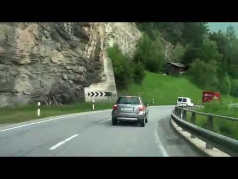 Driving from Zizers GR to St. Moritz/ Julierpass/ Switzerland/ 05.2014/ FullHD