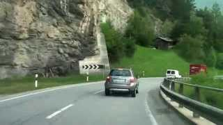 Driving from Zizers GR to St. Moritz/ Julierpass/ Switzerland/ 05.2014/ FullHD
