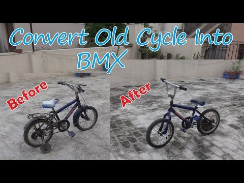 Convert Your Old Cycle Into a BMX