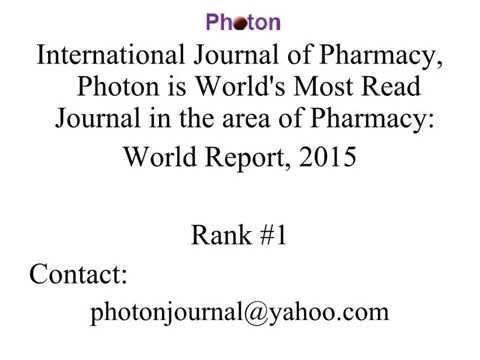 Bolivian Journal of Pharmacy