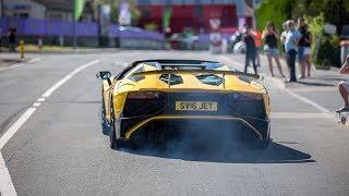 Supercars Accelerating - Chiron, 2x Huracan Performante, 812 Superfast, 3x Aventador SV, Murcielago