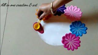 Attractive and beautiful very easy rangoli design