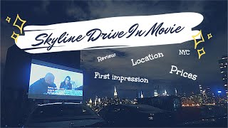 Skyline NYC Drive In Movie Theater || Going out for movie night date in pandemic time