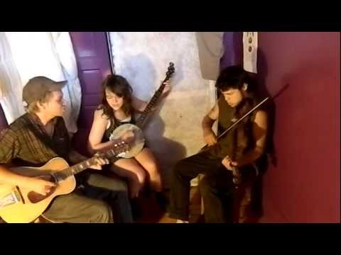 Nick, Ben, and Amy playing an original tune