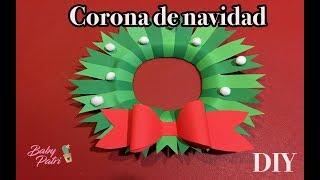 Manualidad : Corona de navidad | DIY