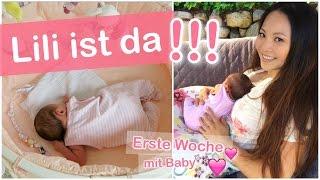 LILI IST DA! ERSTE WOCHE MIT BABY - FAMILIEN ALLTAG VLOG | Mamiseelen
