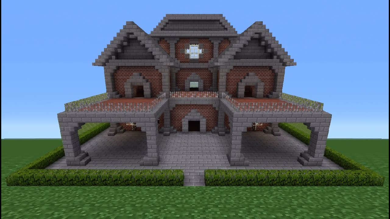 Minecraft tutorial brick house 6 youtube for How to build a brick house step by step pdf