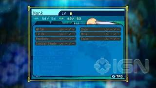 Etrian Odyssey III: The Drowned City DS - Character Creation Trailer