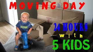 24 Hours With 5 Kids on a Moving Day
