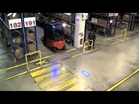Blue Forklift Safety Light Youtube