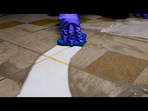 Cleaning A Muddy Tile Floor On a Rainy Afternoon/ Binaural/No Talking