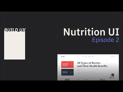 Structure Part 1 | How To Build A Nutrition Website Ep. 2 | HTML