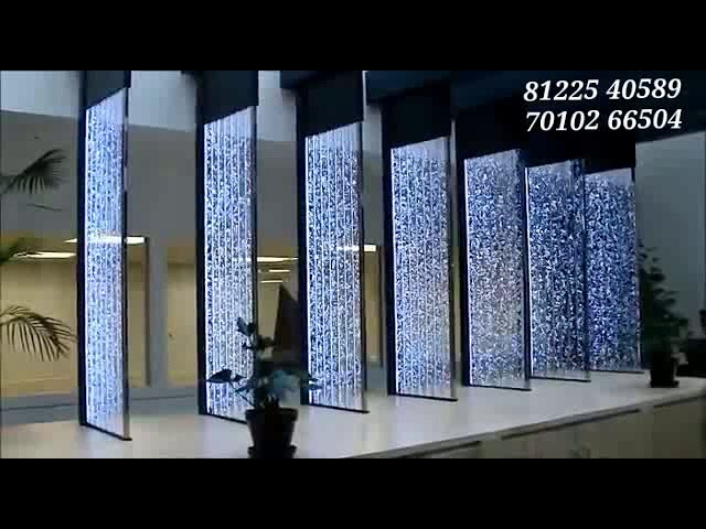 Water Bubble Wall Fountain Indoor Interior Decor New Design Hotel Restaurant Shopping Mall India 91 8122540589