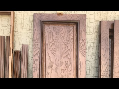 Шпонирование большой дверь часть 1. How To Glue Ash Veneer To The DOOR