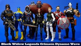 Marvel Legends Black Widow Crimson Dynamo Wave Hasbro Bucky Taskmaster Red Guardian Review