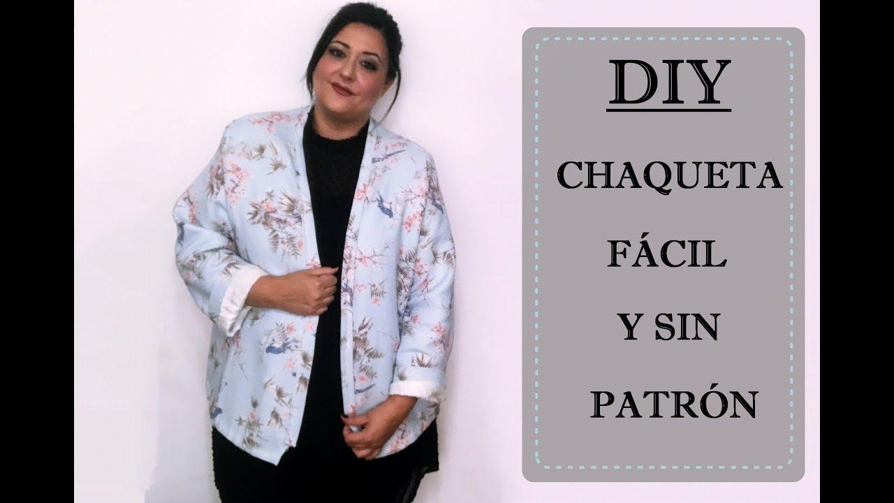 af13e650b924 Diy cómo hacer una chaqueta sin patrón súper fácil