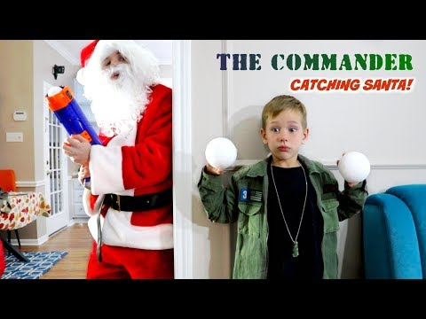 THE COMMANDER vs Santa Claus Holiday Battle! SHK Nerf Comic