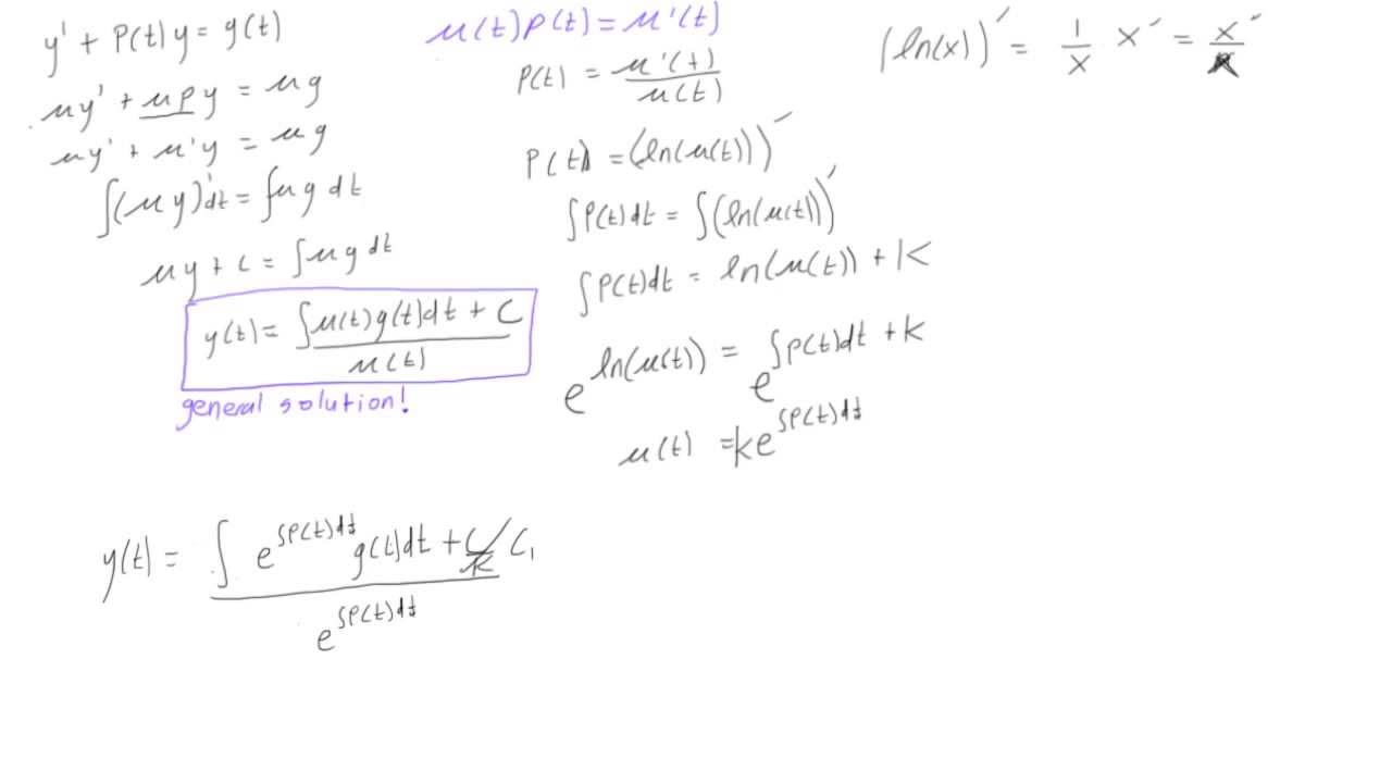 How To Solve A First Order Linear Differential Equation With
