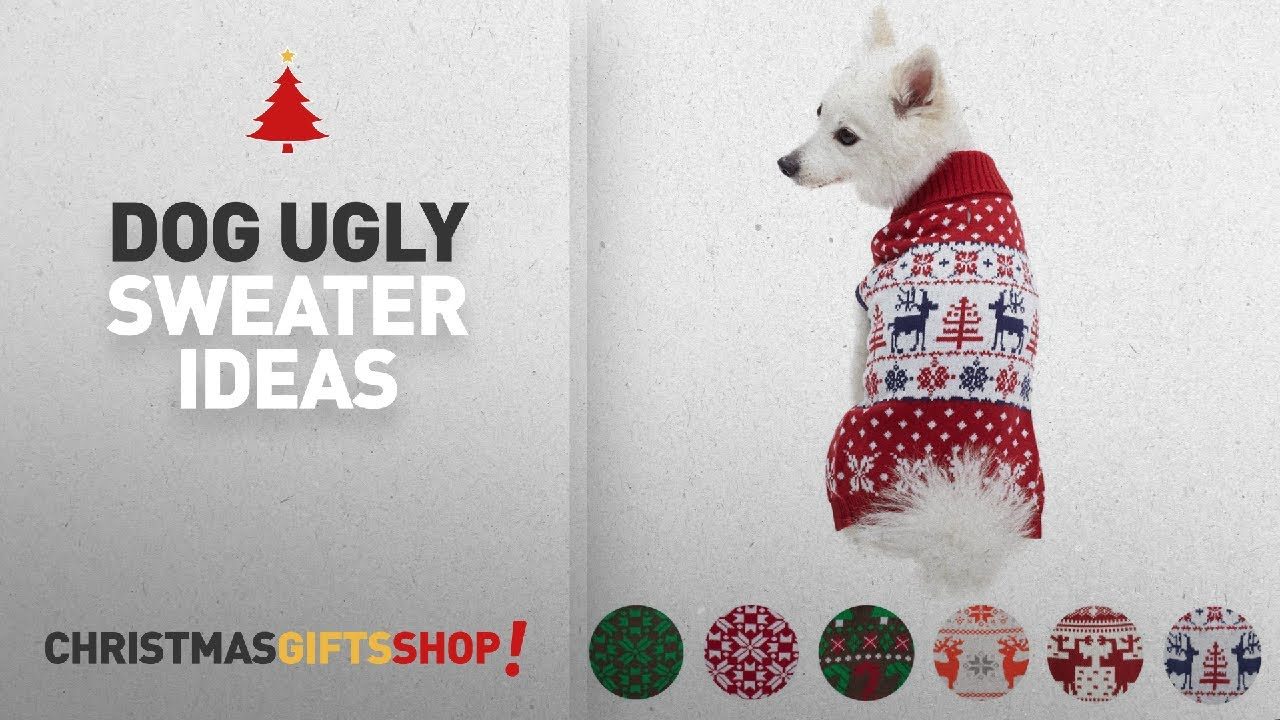 top 10 christmas dog ugly sweater ideas blueberry pet 6 patterns vintage ugly christmas reindeer - Ugly Christmas Dog Sweater