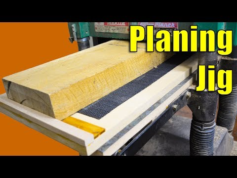 Planing Jig - How to Use Your Planer to Joint Wood | Woodworking Jig