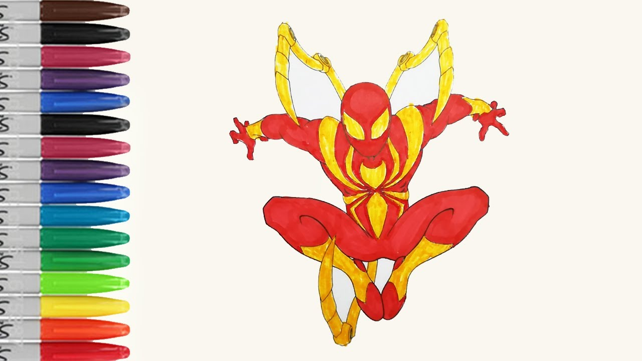 Iron spider is a kid now coloring pages ultimate spiderman sailany coloring kids