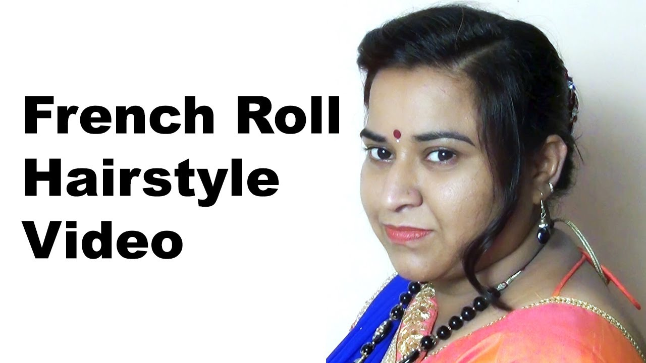 French Roll Hairstyle | Hair Style for All occasions - YouTube