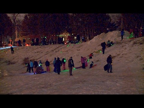 St. Paul Park Glow in the Dark Sledding Event '16