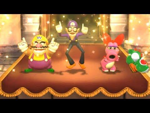Mario Party 9 Boss Rush - Wario vs Waluigi vs Yoshi vs Birdo| Cartoons Mee