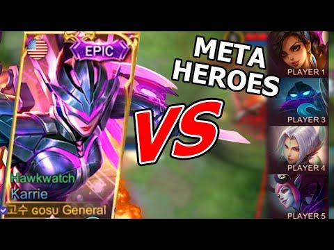 You have waited Hyper Karrie VS Hyper Ling, Meta heroes   Mobile Legends