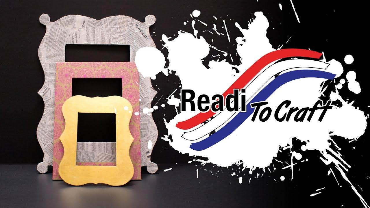Readi to Craft: Foam Board Frames - YouTube