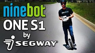 "SUPER FUN SEGWAY UNICYCLE!! Ninebot One S1 REVIEW! One Wheel ""Hoverboard"""
