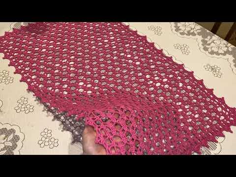 Вязание салфеток прямоугольных крючком