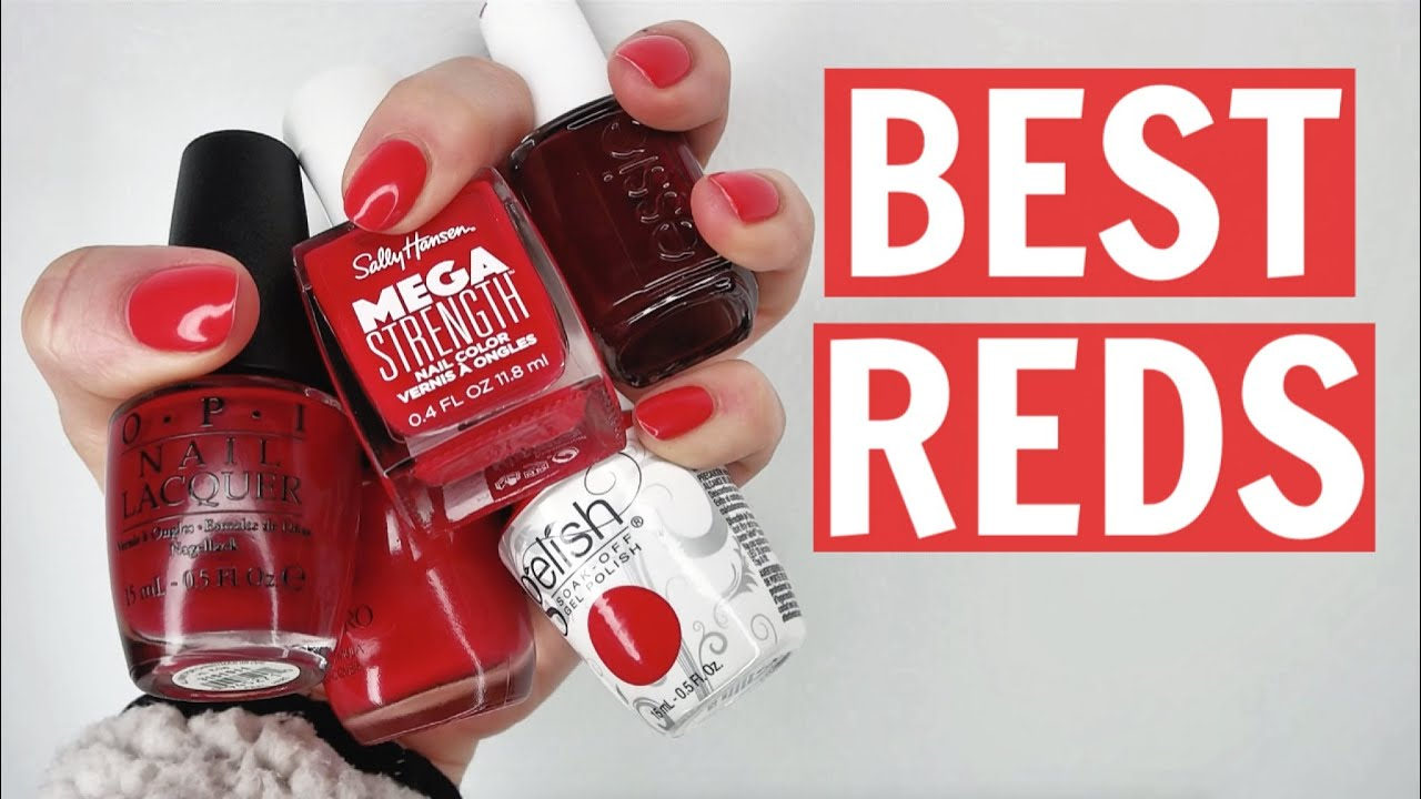 Top Red Nail Polishes Youtube