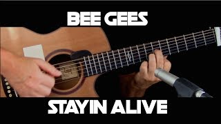 Kelly Valleau - Stayin Alive (Bee Gees) - Fingerstyle Guitar