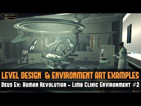 Game Environment Example: Deus Ex: Human Revolution - Limb Clinic Environment #2